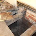 Decayed joist ends removed ready for Bower Beam repair