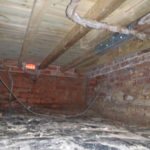 Floor repairs and new working under floor vent